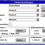Windows 3.1 - Ländereinstellungen